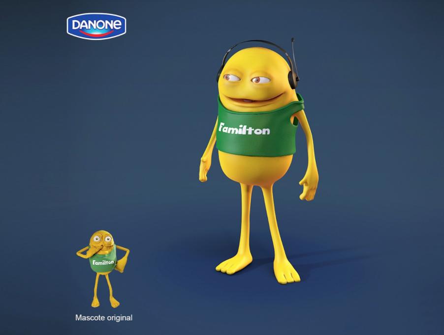 mascote familton danone - Mascotes de Pelúcia Personalizados