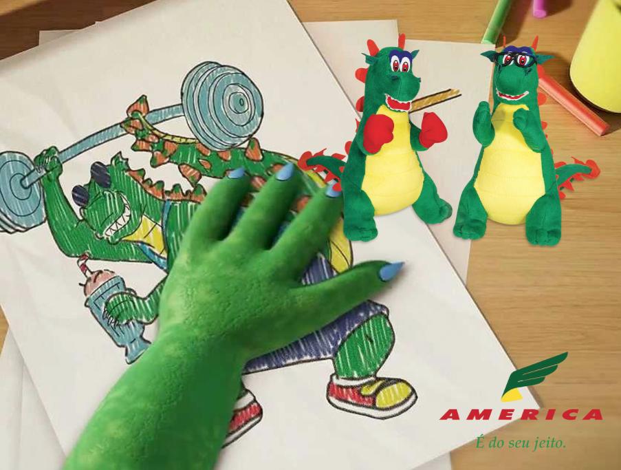 mascote restaurante america - Mascotes de Pelúcia Personalizados