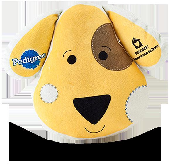 almofada pedigree2 - Portfólio de Mascotes de Pelúcia Personalizados
