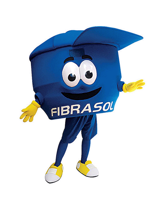 mascot mascote de vestir fibrasol 1 - Portfólio de Mascotes de Pelúcia Personalizados
