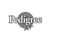 logo pedrigree grayscale - Mascotes de Pelúcia Personalizados